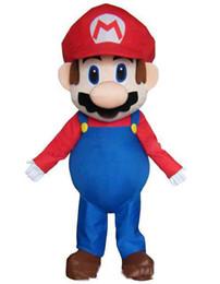 Супер костюм талисмана онлайн-2019 Фабрика прямых продаж костюмов Super Mario Bros. костюм талисмана для взрослых красивое вечернее платье костюм