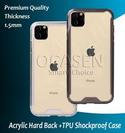 2019 max chocolats Acrylique transparent TPU dur PC Retour Anti Chute antichocs Phone pour iPhone 11 Pro Max XR X XS MAX 7 8 Plus