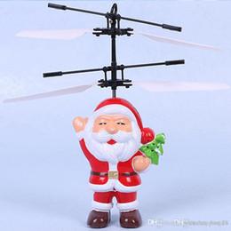 2019 controlador de luz rc Elétrica Sensor Infravermelho Bola Voando Papai Noel LED Piscando Brinquedos Luz RC Helicóptero Quadcopter Zangão Brinquedo Crianças Presentes de Natal t82