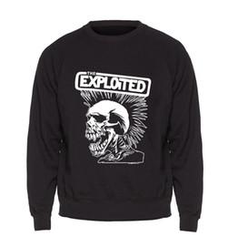 Мужчины онлайн-Skull Hoodie Men Skate Swag Sweatshirt Black Pullover Sweatshirts 2018  Winter Autumn Fleece Warm Punk Rock Sportswear Mens