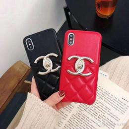 Design da marca de letra de metal logotipo com slot para cartão de telefone case para iphone xs max xr x 7 7 mais 8 8 plus 6 6 plus tampa traseira dura de