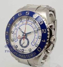 Schweizer chronograph automatisch online-Herren Luxus Produkte Qualität Klassiker 44mm 116680 YM II Blaue Keramik Chronograph Arbeit Schweizer ETA 7750 Bewegung Automatische Herrenuhr