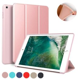 Argentina Funda de cuero tríptica magnética ultradelgada para TPU para iPad pro 11 '9.7 2017 2018 10.5' aire 2/3/4 Mini Suministro