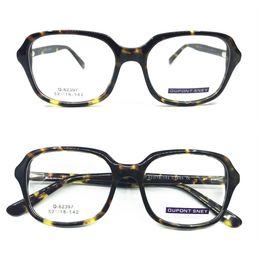 229cfa6504f Vintage Acetate Tortoise Oversize Spring Hinges Eyeglass Frames Square Full  Rim Myopia Rx able Glasses Hand Made Optical
