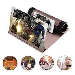 12 pulgadas Lupa de pantalla de madera Mejorada HD Alta definición 3D Teléfono celular Video Video Antiradiación Amplificador con soporte de grano de madera desde fabricantes