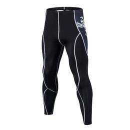 Deutschland New Fashion Mens Compression Hosen 3D Print Quick Dry Skinny Bodysuit Leggings Strumpfhosen Fitness MMA Hosen Hosen cheap jersey bodysuit Versorgung