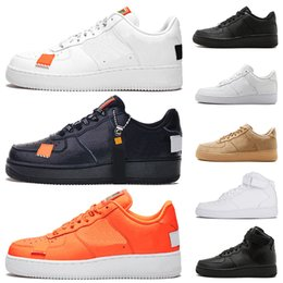 2019 zapatillas marrones Nike air force 1  AF1 One 1 Dunk Zapatos casuales para hombre Negro Blanco Hombres Mujeres Zapatillas Skateboarding Unos High Low Cut Wheat Brown Entrenadores deportivos zapatillas marrones baratos