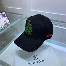 2019 hilo de oro real Diseñador Gorra LA Angels gorra de cricket sombrero de lavabo pequeño Hilo tridimensional bordado de hilo Decoración de lujo accesorios de moda Origi hilo de oro real baratos