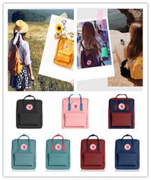 sportrucksäcke für kinder Rabatt 2019 Swedish Fjallraven Kanken Designer Rucksack Luxus Mini Kids Classic für Kinder Sport Süße Mädchen Handtasche Trendy Classic Street Bags