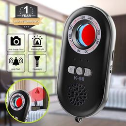 Wholesale Anti espía Detector de cámara oculta Detector de fallas RF Detector de señales inalámbrico Alarma de seguridad personal Sensor de vibración de movimiento de seguridad para viajes