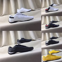 locomotive shoes Promo Codes - Errari Locomotive Shoes Future Cat Leather SF Men Women Casual Shoes Triple Yellow Red Leather Motorsport Designer Running Shoes Eur 37-45