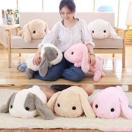 Almohadas conejo conejo online-40 cm grandes orejas largas de conejo de peluche juguetes de peluche de conejo de conejo de juguete suave bebé niños dormir almohada juguetes navidad regalo de cumpleaños