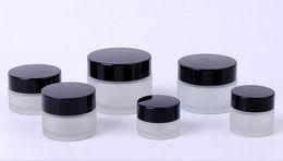 Sliver ouro preto plástico tampa creme garrafa 15g 20g 30g 50g 100g 5g 10g vidro rosto Fosco máscara transparente garrafas de perfume de engarrafamento CZ233 de