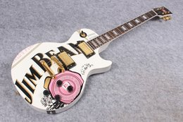 ctory gros GYLP-3027 perle matériel d'or autocollant d'art de couleur blanche marqueterie de bois de rose LP électrique idéogramme Guitare, shippinge gratuit ? partir de fabricateur