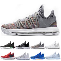 6e247e973fbe New Arrival KD 10 Kevin Durant Men Basketball Shoes Oreo BHM White black  Numbers Anniversary Stucco Igloo Multi Color 10 X Sports Sneaker kd shoes  new ...