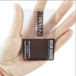 Cartas de negocios online-(200pcs / lot) tarjeta transparente del negocio de encargo, tarjeta mate transparente, impresión plástica de la tarjeta de visita