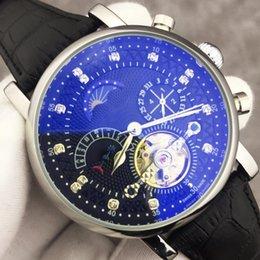 Мужские часы фазы moon онлайн-Лучшие Роскошные Часы Швейцарский Бренд Автоматические Механические Часы с Ручным Заводом Бриллианты Moon Phase Часы Календарь Черный Кожаный Случайные Часы Мужские