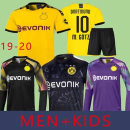 Crianças borussia on-line-HOMENS + Crianças 19 20 Borussia Dortmund Futebol Jersey BVB REU SAGAH Brandt Hummels Paco Alcacer Perigo Goleiro Burki Uniforme Kits