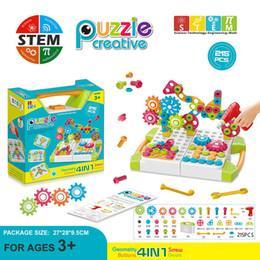 95-215PCS elettrico Drill Gruppo delle vite Giocattoli Dado Montaggio smontaggio Toolbox puzzle dei STEM educativi regali dei giocattoli Y200111 da cosmetici naturali fornitori
