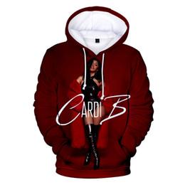 Cappotti uomo kpop online-New 3D Felpa con cappuccio Famous American Hip Hop Rapper Cardi B Fans Kpop Pullover Boy Girl 3D Felpa Leisure Uomo Donna Cappotti Vogue Top