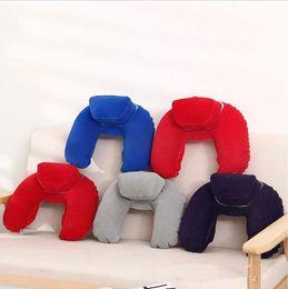Cochecito inflable online-Niños Cojín para niños Cojines para bebés Cojines inflables Dibujos animados para bebés en forma de U Cojines llenos de aire Cochecito de niño Cochecito para niños Almohada Unpick TL154