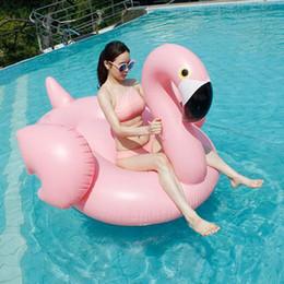 grossistas infláveis Desconto Atacado Engrossar 142 * 137 * 96 cm Gigante Inflável Piscina Flamingo Flutua Tubo Raft Adultos Festa Piscina de Natação Flamingos Flutuadores Jangada DH1069 T03