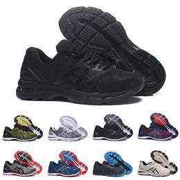 2019 gel de zapatillas 2019 Asics GEL-Nimbus 20 Estabilidad Zapatillas de correr transpirables para hombres negro blanco azul rojo para hombre entrenador zapatillas deportivas de moda corredor rebajas gel de zapatillas