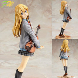 Куклы из японской фигурки онлайн-фигурка ваша ложь в апреле Каори miyazono мультфильм кукла ПВХ 20см коробки упакованы японская фигурка мир аниме 1601107 T190925