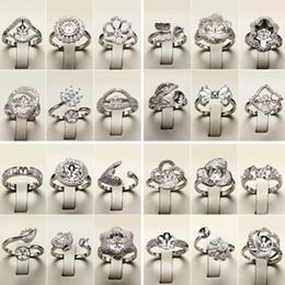 Anelli di perle fai da te impostazione anelli d'argento anello zircone per le donne gioielli moda anello gioielli raffinati regalo di San Valentino regolabile da regolazioni di cabochon dell'argento sterlina all'ingrosso fornitori