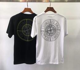 Camisetas de moda coreana online-2019 Verano Ocio Hombre Cuello redondo Camisetas de manga corta para hombres T-shirt moda Edición coreana Estilo masculino Tendencia de los hombres camisetas