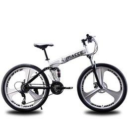 """bicicleta de estrada bicicleta dobrável Duplo freios a disco 2020 Mountain Bike 21 velocidade de 26"""" polegadas dobrar bicicletas de montanha estudante bicicleta bicicletaYTnT # de Fornecedores de baterias do poder rei"""