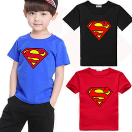 t shirt england Coupons - Summer Kids Baby Boys Superman T-Shirt Children Short Sleeve Tees Costume Tops W