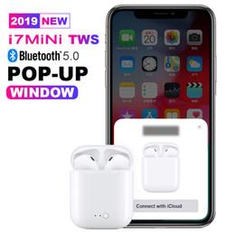 2019 Новый Bluetooth 5.0 автопара поп-окно i7s tws Bluetooth-гарнитура беспроводные наушники-вкладыши беспроводные наушники Bluetooth от Поставщики наушники sony bluetooth