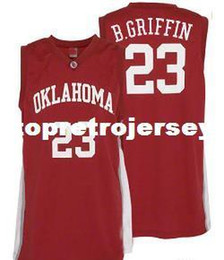 Cheap Mens  23 Oklahoma Sooners Blake Griffin College Basketball Jerseys  Red Retro Stitched Sports Jersey Shirt Custom any Number discount jersey  number 23 167044e39