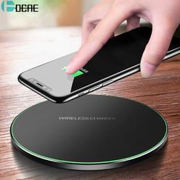 2019 iphone 4s tragbare ladegeräte DCAE Qi Wireless-Ladegerät für iPhone 8 X XR XS Max QC3.0 10W Schnelle drahtlose Aufladung für Samsung S9 S8 Hinweis 8 9 S7-USB-Ladegerät