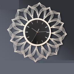 Reloj de pared decorativo grande online-Reloj de pared grande Reloj de pared colgante digital Relojes decorativos de diseño moderno decorativos para el hogar Reloj digital silencioso