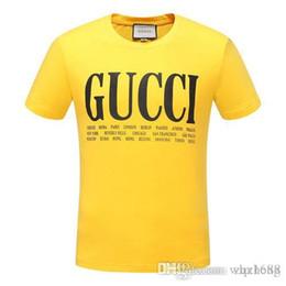 La camisa del patrón del gato online-G GT Camisa de diseñador para hombre Camisetas de lujo Camisa Hombres Mujeres Camiseta casual Cuello redondo de moda Patrón de gato Bordado Mezcla de algodón de manga corta