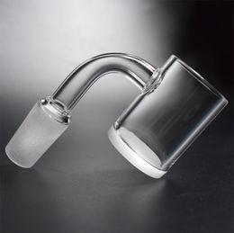 contenitori per alimenti in vetro coperchi Sconti Nuovo 25mm XL Quartz Banger Nail 4mm spesso bianco opaco fondo piatto Top 10mm 14mm 18mm maschio femmina Quarzo Nail Glass Tubi dell'acqua