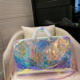 Deutschland 2019 neue Art bunte Reisetasche 50CM Beliebte Top-Marken Designer luxurys Seesack Außensporttasche hohe Qualität (trägerloser Gurt) Versorgung