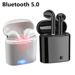 Micrófono auricular online-i7S TWS MINI Auriculares inalámbricos Bluetooth con micrófono Auriculares estéreo In-Ear Auriculares gemelos i7s para iPhone XS max X