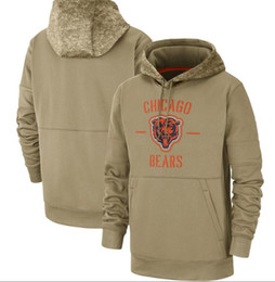 2020 New Ours Hoodies Chicago Sweat shirt Salut au service Sideline Therma Performance Pull HoodieTan Vestes Hommes Femmes Enfants