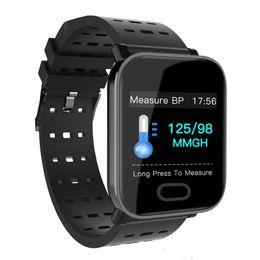 Argentina Nueva llegada A6 Fitbit Sport Smart Band Presión arterial Pulsera inteligente Monitor de ritmo cardíaco Rastreador de calorías IP67 Reloj de pulsera impermeable Suministro