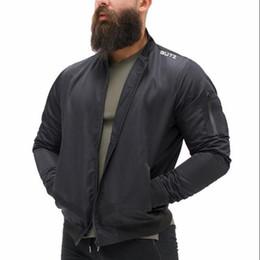 mens autunno e inverno in esecuzione abiti da allenamento Giacche da uomo, cerniera giacche fitness Palestra cappotto da