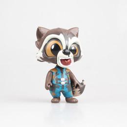 Modelos de cohetes online-Figura de modelo de anime Guardianes de la galaxia Rocket Raccoon 10 cm de dibujos animados colección nendoroid acción PVC muñecas regalo