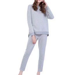 Perimedes 2шт спортивный костюм Женщины полосатые шорты костюм набор женщин элегантный с длинным рукавом до щиколоток брюки комплект наряд#g35 supplier elegant pants outfits от Поставщики элегантные брючные наряды