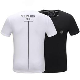 Крутые повседневные рубашки для мужчин онлайн-2019 Мужская рубашка Phillips Plains Футболка Мода Повседневная Фитнес Прохладный О-Образным Вырезом мужская футболка Медведь Лето с коротким рукавом Мужская одежда