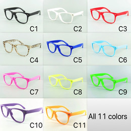 4cea5e1bab0cc 11 Puro coloreado para niños Marco de gafas Nerd Gafas de sol para niños  Sin lentes Gafas de fiesta para bebés Envío de DHL lentes niños baratos