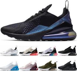 Compre Nike Air Max 270 Moda Baratos Zapatos Corrientes Triple Negro De Uva Hot Punch Ser Verdadero Hueso Ligero Habanero Rojo Retroceso Mujeres
