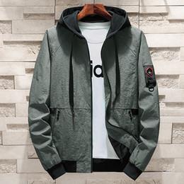 27122939b730f Lncdis Plus Size M-4XL Jackets Men Fashion Loose Bomber Jacket Mens  Windbreaker Cool Coats Chaqueta Hombre Veste Homme Chaqueta