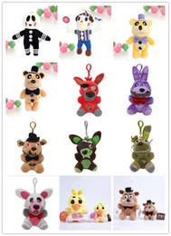 Bambola fredda online-Cinque notti al 13 Styles di Freddy Toy Orso Horror Peluche Thriller Peluche 30CM / 20CM Accessori peluche